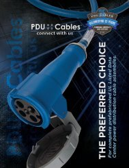 STRIVING FOR CUSTOMER SATISFACTION IS WHAT MADE PDU CABLES SUCCESSFUL