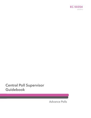 Central Poll Supervisor Guidebook