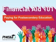 Paying for Postsecondary Education