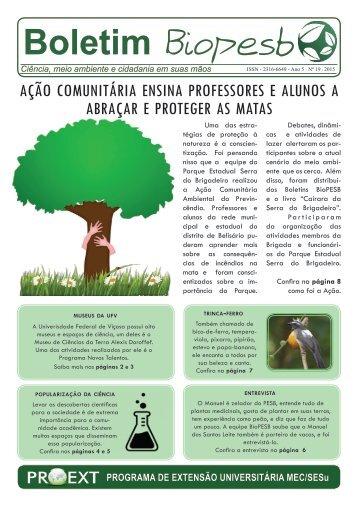 Boletim BioPESB 2015 - Edição 19