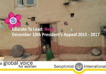 Educate To Lead Nepal December 10th President's Appeal 2015 - 2017