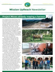 Mission UpReach Newsletter - September 2015