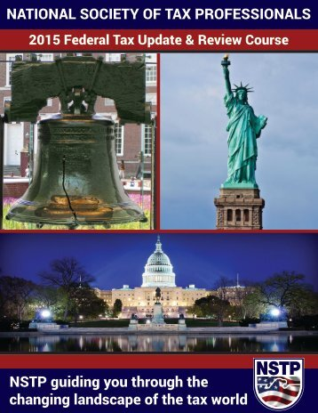Sample 2015 Federal Tax Update & Review Book