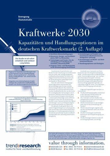 Kraftwerke 2030 - trend:research