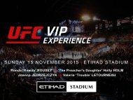 SUNDAY 15 NOVEMBER 2015 ETIHAD STADIUM