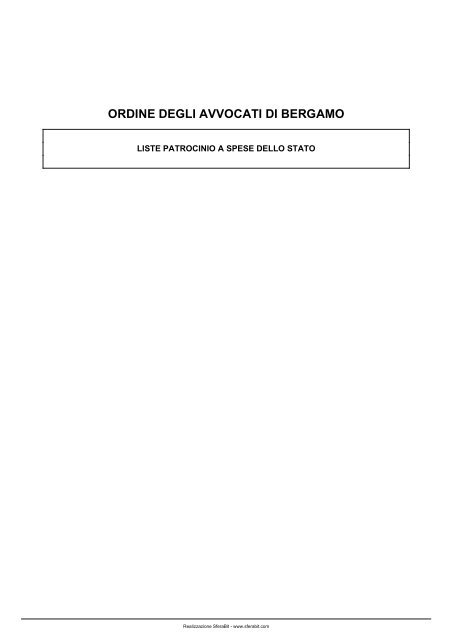 Ordine Degli Avvocati Di Bergamo