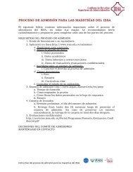 PROCESO DE ADMISIÓN PARA LAS MAESTRÍAS DEL IESA