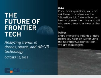 THE FUTURE OF FRONTIER TECH