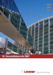 18. Geschäftsbericht 2007 - Lindner Group