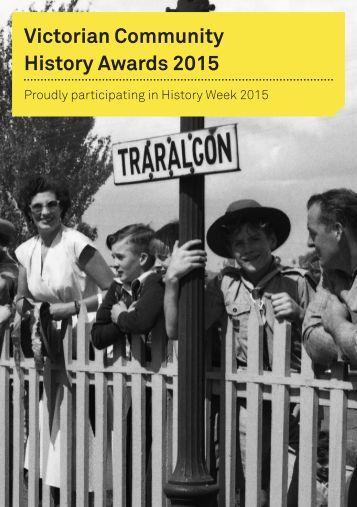 Victorian Community History Awards 2015