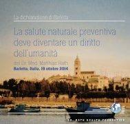 La salute naturale preventiva deve diventare un diritto dell'umanità