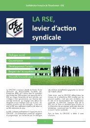 LA RSE levier d'action syndicale