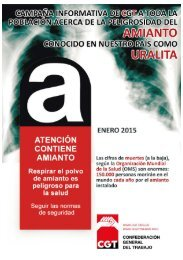l Amianto o asbesto en nuestros trabajos y en nuestras vidas