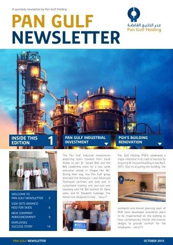 Pangulf Newsletter Oct 2015