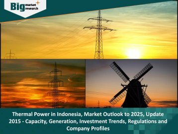 Thermal Power in Indonesia, Market Outlook to 2025, Update 2015 - Capacity, Generation, Investment Trends, Regulations and Company Profiles