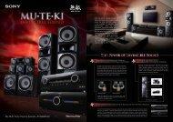 MU TE KI Home Theatre Systems HT-DDW5500 - Sony Asia Pacific