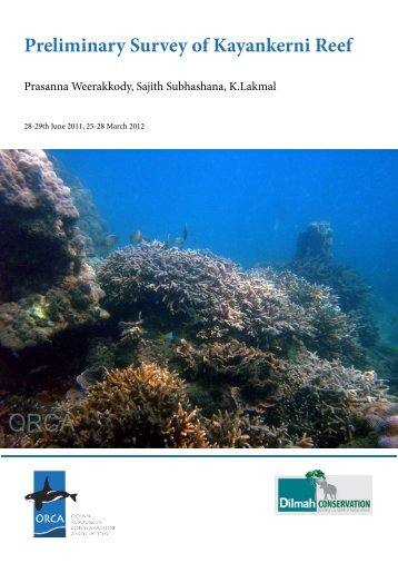 Finalised Preliminary Survey on Kayankerni Reef