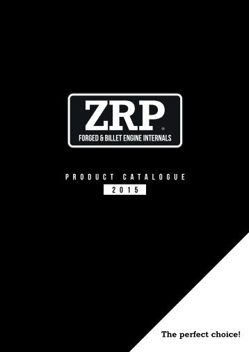 ZRP 2015 Product catalogue
