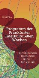 Programm der Frankfurter Interkulturellen Wochen