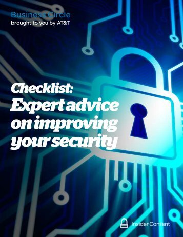 Expert advice on improving your security