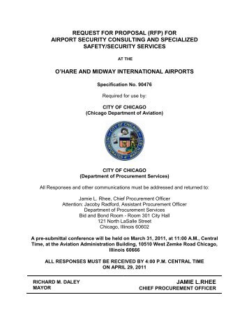 Request For Proposal (RFP) for Airport Security ... - City of Chicago