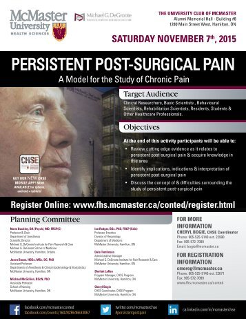 Persistent Post-Surgical Pain