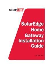 Home Gateway Installation Guide - SolarEdge