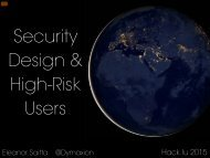 Security Design & High-Risk Users