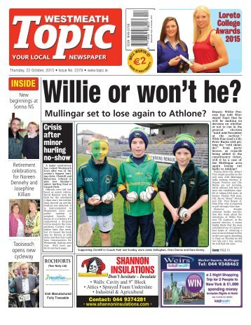 Westmeath Topic- 22 October 2015