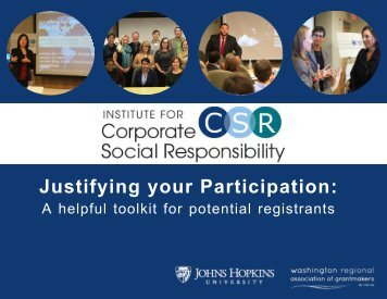 Justifying your Participation