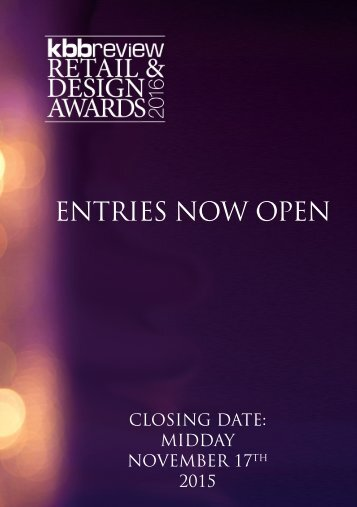 kbbreview Retail & Design Awards 2016 - Call for Entries