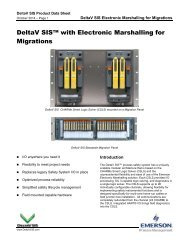 DeltaV SIS with Electronic Marshalling for Migrations