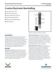 S-series Electronic Marshalling