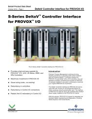 S-Series DeltaV Controller Interface for PROVOX I/O