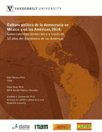 Cultura política de la democracia en México y en las Américas 2014