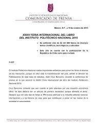 XXXIV FERIA INTERNACIONAL DEL LIBRO DEL INSTITUTO POLITÉCNICO NACIONAL 2015