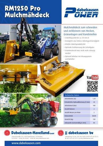RM1250 Pro Mulchmähdeck