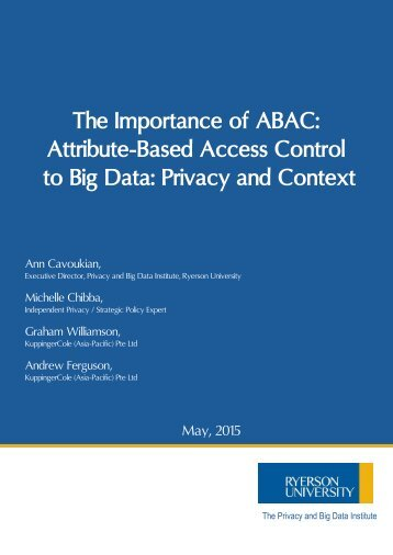 The Importance of ABAC to Big Data 05-2015