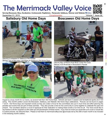 Merrimack Valley Voice - September 2015