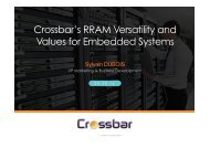 Crossbar's RRAM Versatility and Values for Embedded Systems