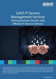 GAVS IT Service Management Services