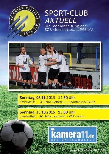 Sport Club Aktuell - Ausgabe 18 - 25.10.2015