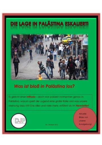 Die Lage in Palästina eskaliert! - Oktobernewsletter