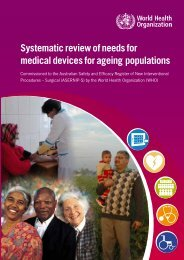 Systematic review of needs for medical devices for ageing populations