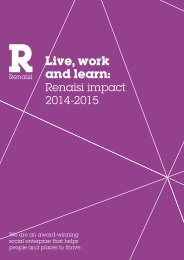 Live work and learn Renaisi impact 2014-2015