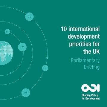 10 international development priorities for the UK