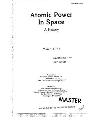 Atomic Power in Space: A History - Federation of American Scientists