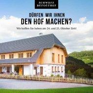 Programm Schwarzbergerhof Eröffnung 24. und 25. Oktober 2015