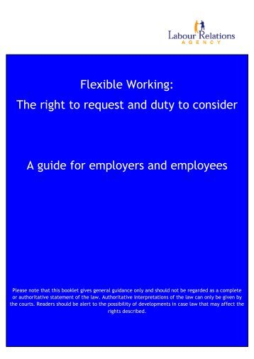 A guide for employers and employees