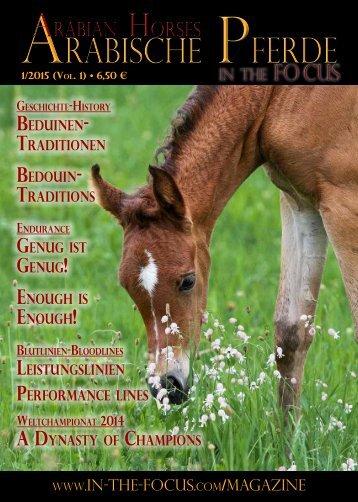 Arabische Pferde IN THE FOCUS Nr. 1/2015 (Vol. 1)